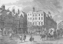 HOLBORN. Middle row, shown shortly before its demolition c1880 old print
